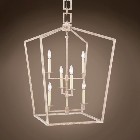 "19Th C. English Openwork Lantern 6 Light 24"" Pendant"