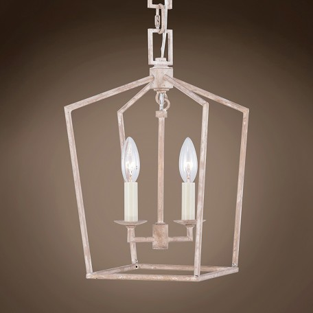 "19Th C. English Openwork Lantern 2 Light 9.5"" Pendant"