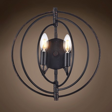 "Orb 2 Light 13"" Wall Sconce"