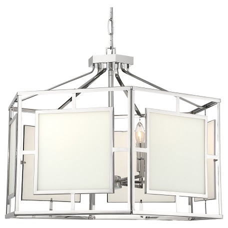 Crystorama HIL-996-PN Libby Langdon For Hillcrest 6 Light Polished Nickel Chandelier