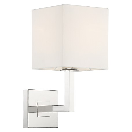 Crystorama CHA-491-PN Chatham 1 Light Polished Nickle Wall Mount