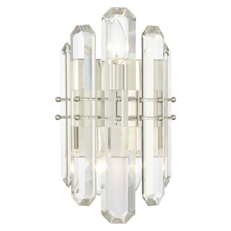 Crystorama BOL-8882-PN Bolton 2 Light Polished Nickel Wall Mount