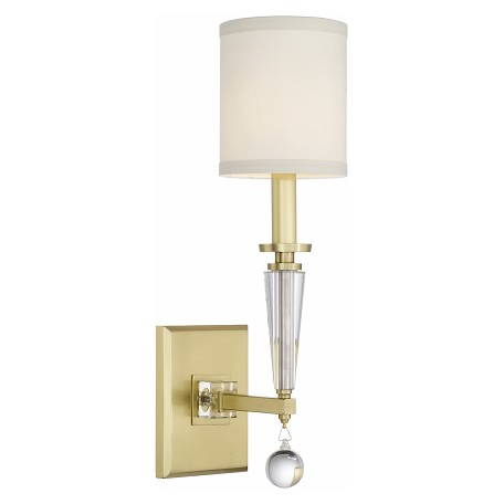 Crystorama 8101-AG Paxton 1 Light Anitque Gold Sconce