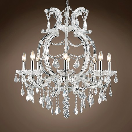 "JM Maria Theresa 8 Light 28"" Chandelier"