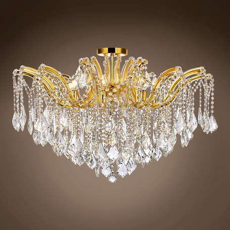 "JM Maria Theresa 8 Light 36"" Flush Mount"