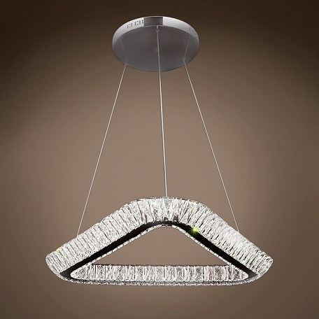 "Galaxy 24"" Led Chrome Chandelier Light With Clear Crystals"