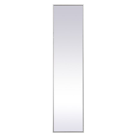 Elegant Decor MR41460S Metal Frame Rectangle Mirror 14 Inch In Silver