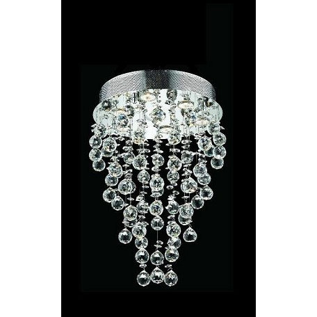 "Drops of Rain Design 7-Light 24"" Round Pendant Chandelier with European or Swarovski Crystals SKU# 10245"