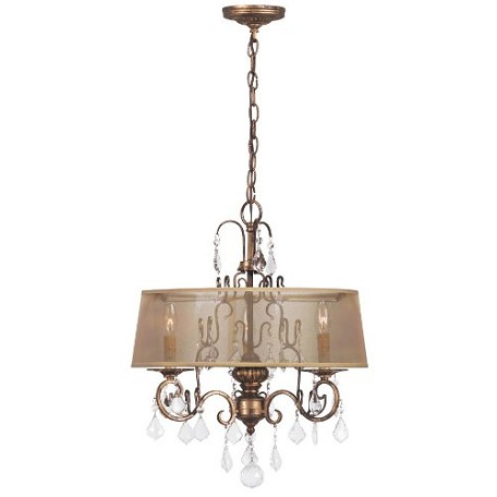 World Imports Three Light Gold Up Chandelier