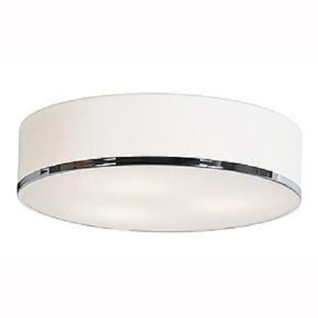 Access Chrome / Opal Aero 1 Light Led Flush Mount Ceiling Fixture