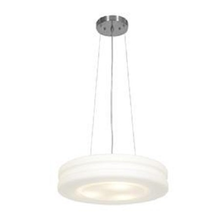 Access Brushed Steel / Opal Altum 1 Light Full Sized Led Pendant