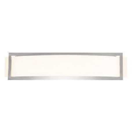 Access One Light Brushed Steel  Opal  Glass Wall Light