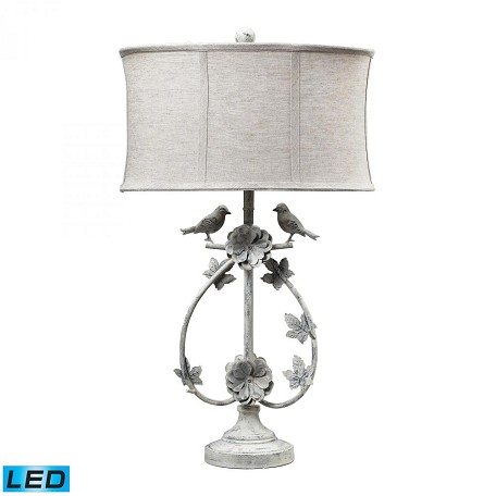 Dimond One Light Antique Whte Table Lamp