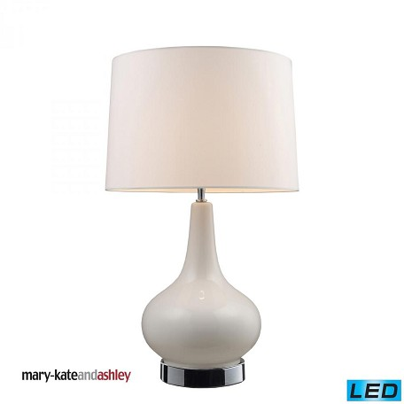 Dimond One Light White & Chrome Table Lamp