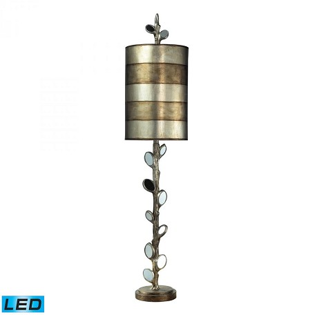 Dimond One Light Mirror And Antique Silver Table Lamp