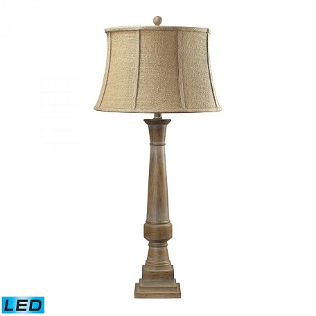 Dimond One Light Bleached Wood Table Lamp