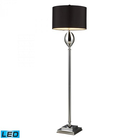 Dimond One Light Chrome Plated Glass Floor Lamp