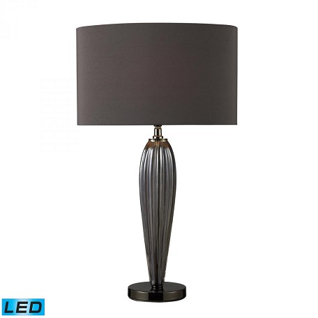 Dimond One Light Steel Smoked And Black Nickel Table Lamp