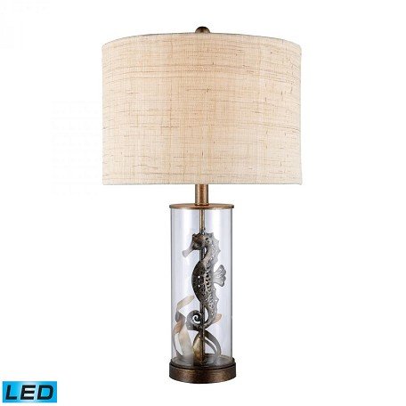 Dimond One Light Bronze And Clear Glass Table Lamp