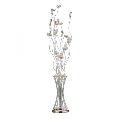 Dimond Six Light Satin Nickel Floor Lamp