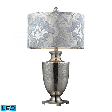 Dimond One Light Antique Mercury Glass With Polished Chrome Table Lamp