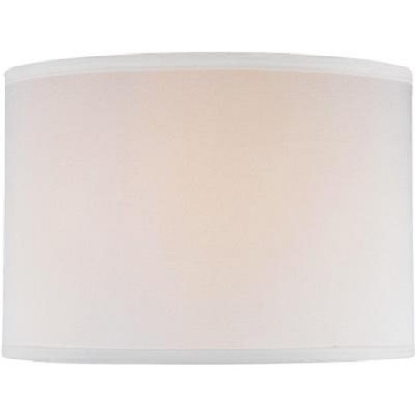 Lite Source Inc. Off White Drum Shade - 14In.Tx14In.Bx10In.H