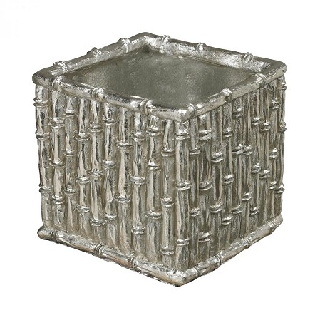Sterling Industries Silver Bamboo-Bamboo Planter