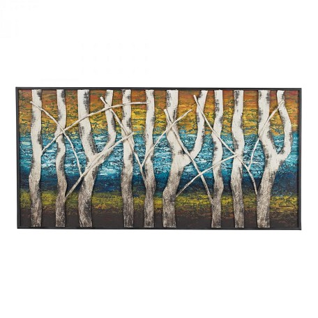 Sterling Industries Queen Lake-White Birch At Dawn Metal Wall Décor