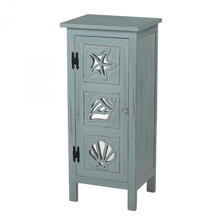 Sterling Industries Normandy Shore-Mirrored Seashell Cabinet