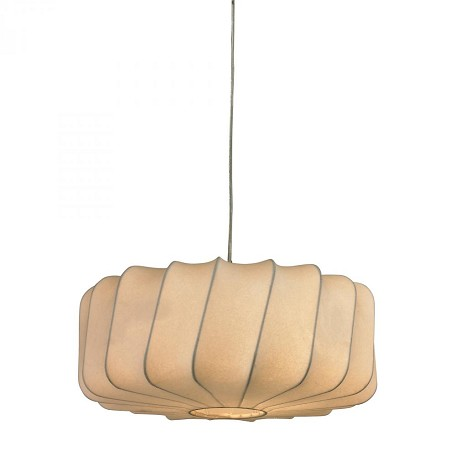 Sterling Industries Lochend-Off-White Fabric Pendant On Twisted Drum Shape Frame