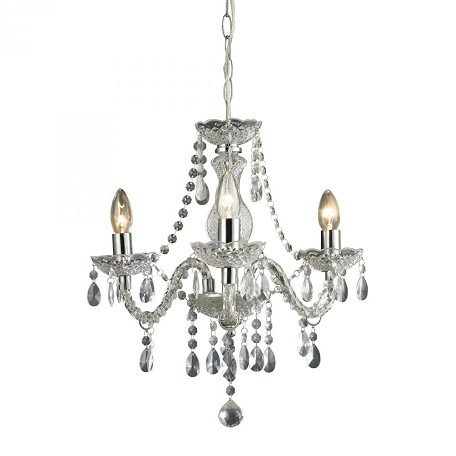 Sterling Industries Theatre-3 Light Clear Mini Chandelier
