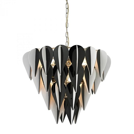Sterling Industries Ashreigh-Mod Inspired Black And White 3 Tier Pendant