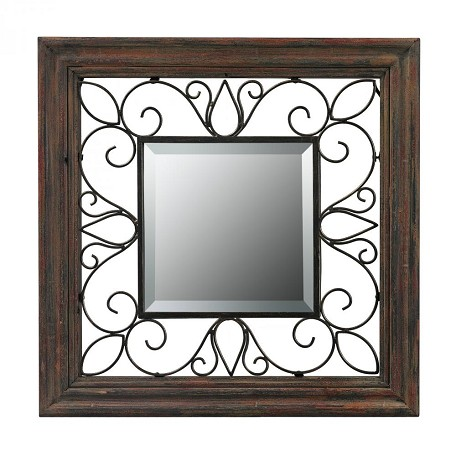 Sterling Industries Wood Framed Mirror With Iron Detailing