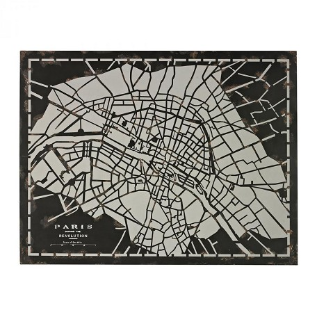 Sterling Industries City Map-Laser Cut Map Of Paris Circa 1790