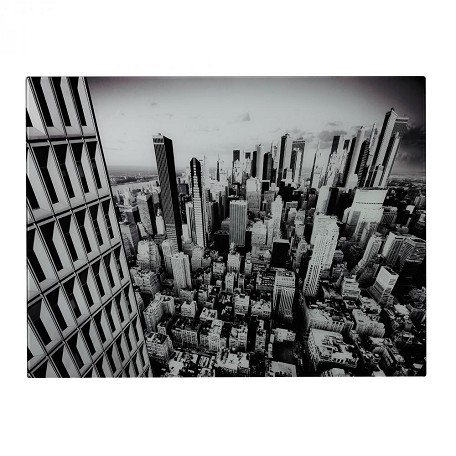 Sterling Industries Manhattan-New York City Image Printed On Glass
