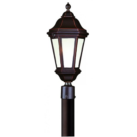 Troy One Light Antique Bronze Post Light