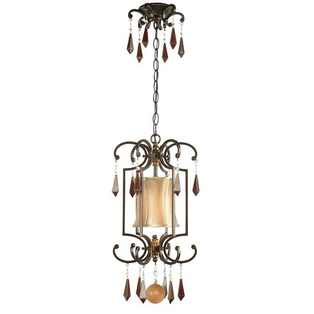 World Imports One Light Bronze Open Frame Foyer Hall Fixture