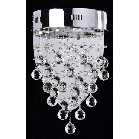 Drops of Rain Design 3-Light 12'' Wall Sconce Dressed with European or Swarovski Crystals SKU# 10251