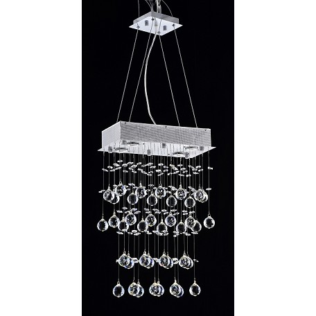 "Drops of Rain Design 4-Light 24"" Rectangular Chandelier Pendant with European or Swarovski Crystals SKU* 13089"