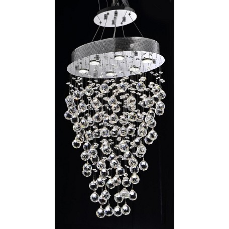 "Drops of Rain Design 6-Light 30"" Oval Pendant Chandelier with European or Swarovski Crystals SKU* 10272"