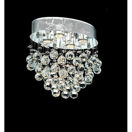 "Drops of Rain Design 4-Light 16"" Oval Ceiling Mount Dressed with European or Swarovski Crystals SKU* 10274"