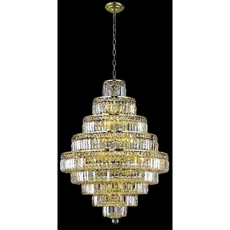 "Milan Design 20-Light 41"" Chrome or Gold Chandelier with European or Swarovski Crystal SKU# 10964"