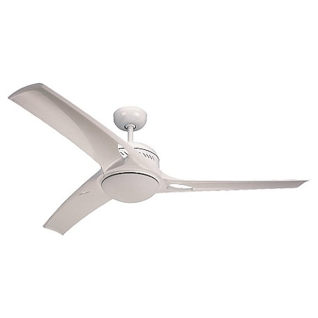 Monte Carlo One Light White Ceiling Fan
