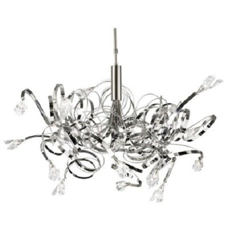 PLC Lighting 16 Light Chandelier Ribbon Collection