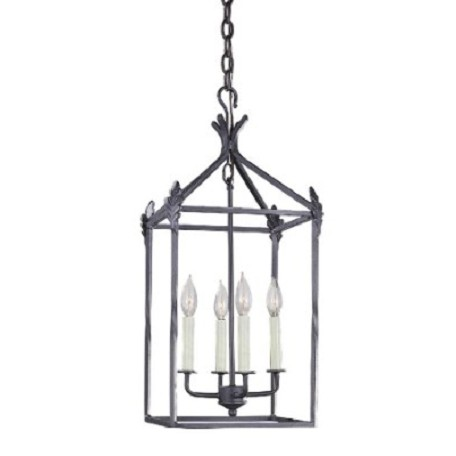 World Imports Four Light Outdoor Foyer Hall Fixture
