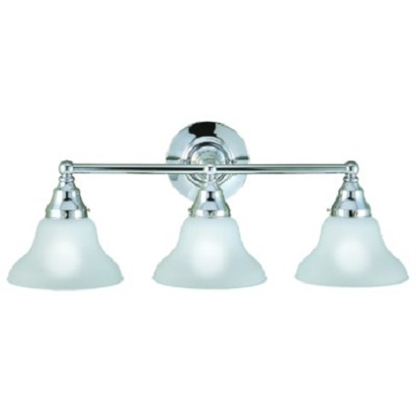 World Imports Three Light Chrome Vanity