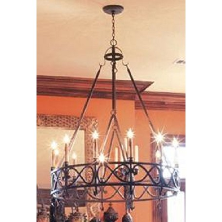World Imports Twelve Light Gray    Up Chandelier
