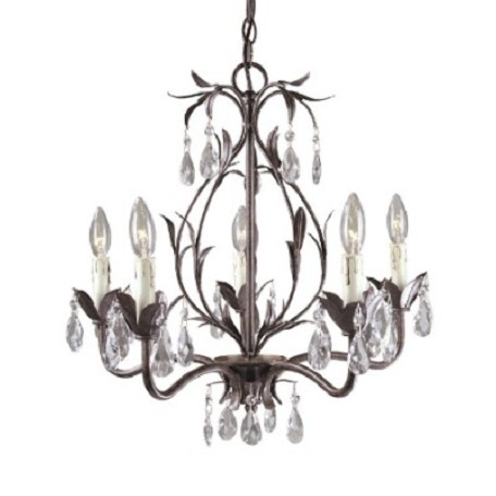 World Imports Five Light Bronze Up Chandelier