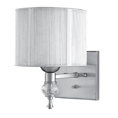 World Imports One Light Nickel Wall Light