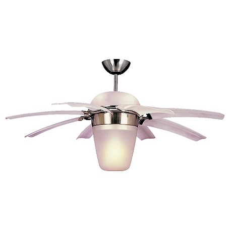 Monte Carlo Five Light Steel Ceiling Fan